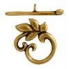 Toggle - Leaves 15mm Antique Brass